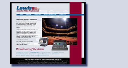 Lewis Sound & Video website